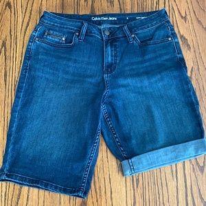 Calvin Klein denim shorts, size 8